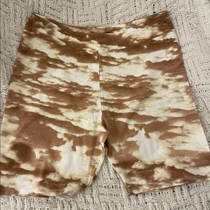 Plus size Forever21 Tan and Cream Biker Shorts 3X